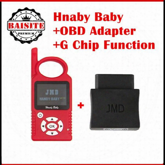 Super Function Original Jmd Handy Baby Car Key Copy Auto Key Programmer V8.2.1 For 4d/46/48 Chips + Obd Adapter + G Chip Function
