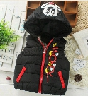 2016 kids Waistcoat Baby children autumn/winter fashion down cotton cartoon vest sports leisure jacket boys/girls comfortable coat retail