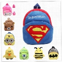 2016 New Cute Cartoon Kids Plush Backpack Toys Mini Schoolbag Children's Gifts Kindergarten Boy Girl Baby Student Bags Lovely Mochila