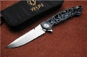 Free shipping,VESPA Version Dmitry Sinkevich Custom folding Knife,Blade:M390(satin),Handle:Carbon fiber+TC4,outdoor EDC tools