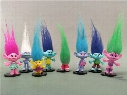 Hot Sale 8pcs/set Trolls PVC Action Figures Toys 7-9cm Poppy Branch Biggie Collection Dolls for Kid Figures Model Toys Wholesale