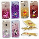 New Cute cartoon Alice Snowball Fairy Tale Shining Glitter Star Liquid Quicksand Phone Back Case cover For Iphone 5/6s/6s plus 7 7plus