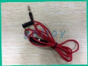 Red 3.5mm Male to Male Record Car aux Audio Cord headphone connect Cable For Headphone 100pcs/lot
