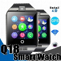 Smart Watches Q18 Bluetooth Smartwatch for Apple iPhone IOS Samsung Android Phone with SIM Card Slot Wristbands GPS Smart Watch