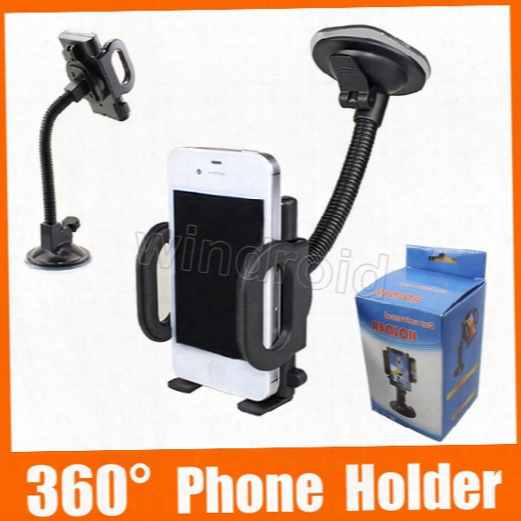 Universal 360 Degree Rotatable Suction Cup Swivel Get Upon Car Windshield Holder Stand Cradle For Cell Phone/iphone/ipad/pda/mp3/mp4 Dhl 50pcs