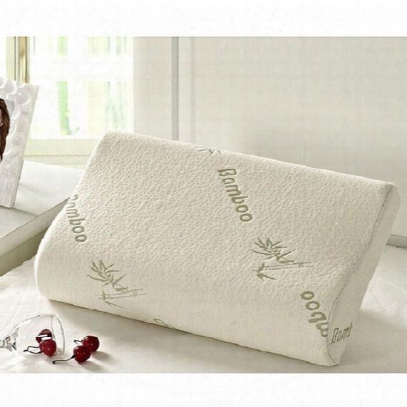 Wholesale- High Quality Bamboo Fiber Pillow Slow Rebound Memory Foam Pillow Health Care Memory Foam Pillow Massager Travesseiro Almohada