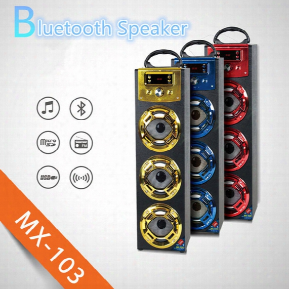 Wireless Bluetooth Speaker Mx103 Big Outdoor Bluetooth Speaker With Led Light Support Tf Card Fm For Stage Home Theatre Ktv