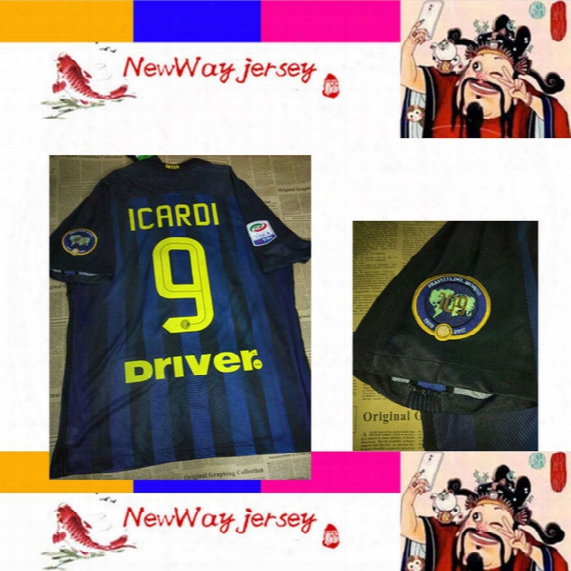 2017 Candreva Eder Jovetic Icardi Player Version Jersey Customize Embroidery 109 Arm Patch