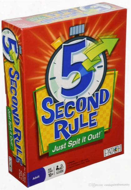 2017 Newest 5 Second Rule Board Game 5second Rule 5 Second Rule - Just Spit It Out! New Card Game Free Shipping