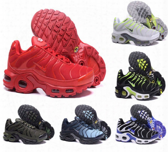 2017 Running Shoes Men Tn Fashion Increased Ventilation Breathable Light Casual Shoes Olive Cargo Gs Sneakers Shoes