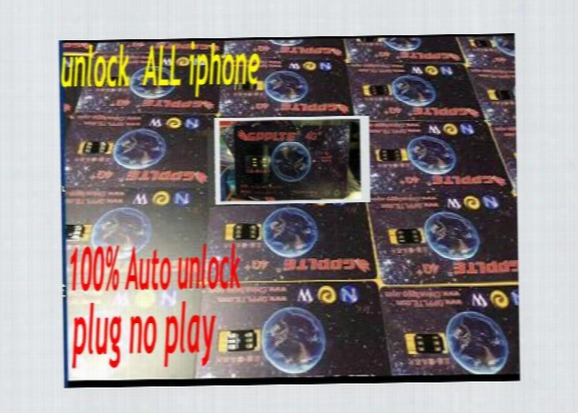 2hour Hot Promotion!!lowest Gpplte 4g+ Newest Black Smart Chip 100% Auto Neter Air Unlock Sim Iphone 7 6s 6 5s 5 Plus + Lte Ios10 R Sim11