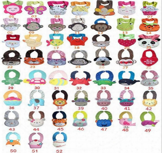 61 Designs Cater's Baby Bibs 3-layer Waterproof 3d Cartoon Animals Bibs Infant Animal Baby Baby Bibs & Burp Cloths Wholesale Bibs