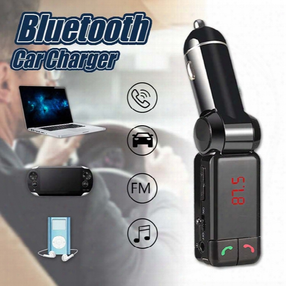 Bc06 Bluetooth Car Charger For Mp3 Mp4 Player Mini Dual Port Aux Fm Transmitter Wireless Kit Support Hands-free Micro Sd Tf Card U Disk