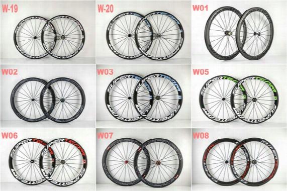 Custom Paint Buy Hot Sell Superteam 50mm Carbon Wheels Clincher Tubular Road Wheelset Hub Spoke 20/24
