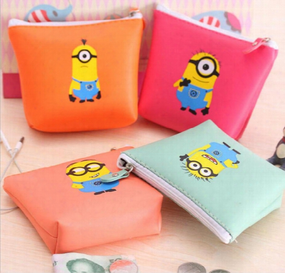 Despicable Me Coin Purses Minion Wallets Children Gift Bag Wallet For Girl Boy Cheap Kids Cartoon Coin Purse