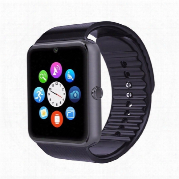 Gt08 Smart Watch Clock Sync Notifier Support Sim Card Bluetooth Connectivity Smart Watches For Apple Iphone Android Smart Phones