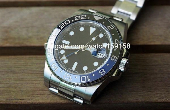 Hot Sell Luxury Watch 2836 Movement Watches Stainless Steel Wristwatch With Blue Black Ceramic Bezel Sapphire Glass 061