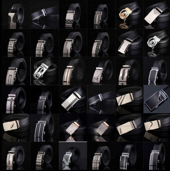Men's Leather Belt Fashion Automatic Buckle Strap For Business Luxury Casual S Waist Strap Belt Waistband 77 Styles Kka1361