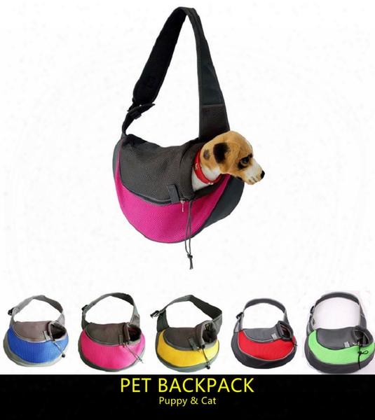 Most Popular Front Chest Pet Dog Backpack Carriers Puppy Cat Outdoor Portable Messenger Bag Transparent Breathable Dog Travel Shoudler Bag