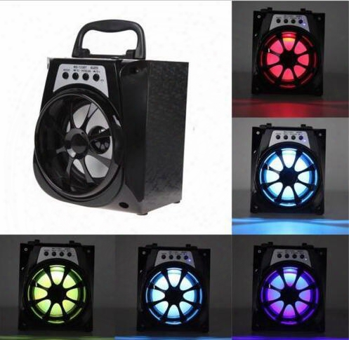 Ms-133bt Portable Mini Wireless Bluetooth Square Speaker Support Fm, Led Shinning,tf Card Music Playing, Volume Control
