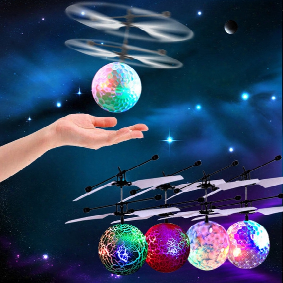 New Easy Operation Vehicle Flying Rc Flying Ball Infrared Sense Induction Mini Aircraft Flashing Light Remote Control Ufo Toys For Kids Wd28