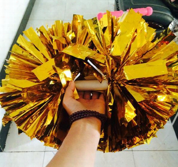 New Party Carnival Cheering Pom Pom Plastic Handle Cheerleading Flower Dance Hand Ball Sports Vocal Concert Cheerleaders Ball Event Supplies