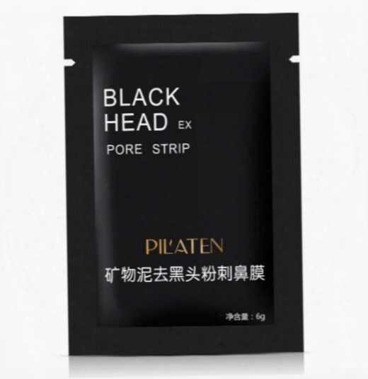 Pilaten Suction Black Mask Face Care Cleaning Tearing Style Pore Strip Deep Clean Nose Acne Blackhead Facial Mask Remove Black Head Dhl Ship