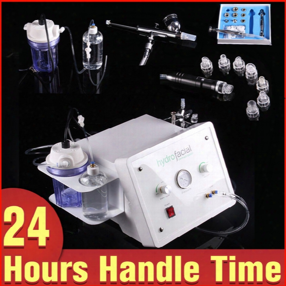Professional Skin Care Unpain 3in1 Microdermabrasion Dermabrasion+hydro Peeling+ Vacuum Spray Beauty Device For Skin Rejuvenation Moksture