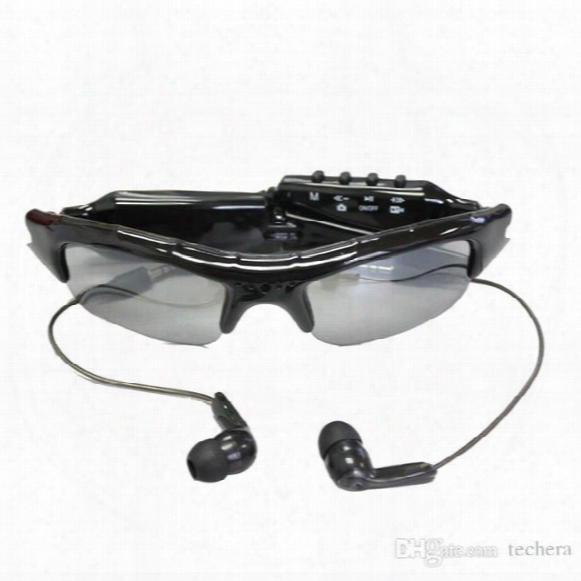 Spy Sun Glasses Camera Hd Audio Video Recorder With Bluetooth & Mp3 Player Tf Card Slot Spy Sunglasses Camera Portable Security Camcorder