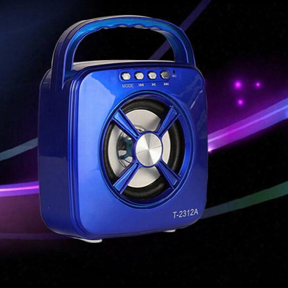 T2312a Bluetooth Speaker Portable Mini Led Lights Outdoor Sports Speaker Fm Tf Card Subwoofer Bluetooth Speaker