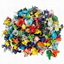 144 Style Poke Figures Toys 2-3cm Multicolor Free DHL Children cartoon Pikachu Charizard Eevee Bulbasaur Suicune PVC Mini Model Toy