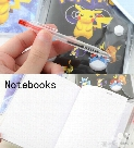 3 Size Cartoon Poke Pikachu Notebook With A Ballpoint Pen Diary Planner Poke Stationery School Office Supply 100pcs B0548