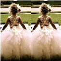 Beautiful Flower Girl Dresses for Wedding New Princess Tulle Party Birthday Communion Pageant Dress Little Girls Kids/Children Dress