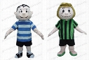 Fast Delivery Peppermint Patty and Linus mascot costume cartoon character mascot Adult Fancy Costume Party dress