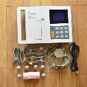 free shipping 6 channel 3.8in ecg/EKG, Electrocardiograph, CE Approved ECG 6 Channel 12 Leads ECG Machine with Manual / Auto / Analys