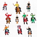 Funny Carry Me Fancy Dress Up Ride On Oktoberfest Mascot Party Mascot Halloween Costume One Size Fits Most Fancy Pants