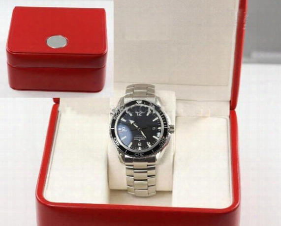 Wholesale - Planet Ocean Stainless Steel Automatic Watch Men's Sport Watches Black Dial Original Box