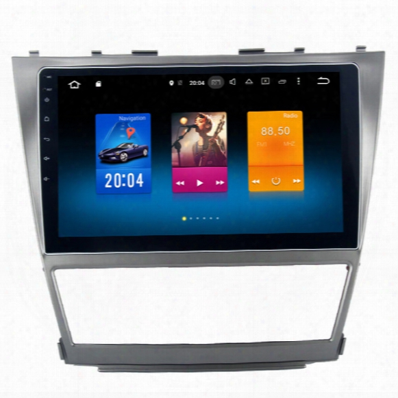 """10.2"""" Octa Core Android 6.0 System Car Dvd Radio For Toyota Camry 2007-2011 Gps Navi Stereo Bt4.0 Rds Wifi 4g Obd Dvr Wheel Control 2g Ram"""