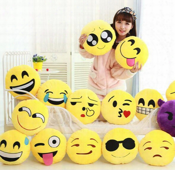 15cm Soft Emoji Smiley Emoticon Yellow Round Car Mini Cushion Pillow Stuffed Plush Toy Doll Christmas Present Keychain Pendant Ems Free