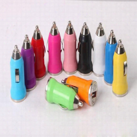2000pcs/lot Universal Mini Usb Car Charger Universal Usb Adapter Colorful Car Charger For Smart Phone,mobile Phone,android Phone