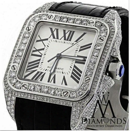 2017 Watch Luxury Brand New Automatic Watch Larger 10ct Natural Diamond Automatic With Box Men's Watches