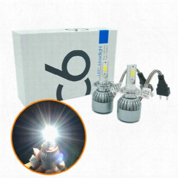 2pcs 72w With Chip H7 Led Car Headlights H8 H9 H11 9006 9005 Hb3 Hb4 Led Headlamp Headlight Bulbs Drl Led Flashlight 7600lm Car