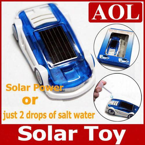 5pcs/lot Green Energy Power Toy- Solar & Salt Water Hybrid Car Toy For Children Gift Christmas Solar & Salt
