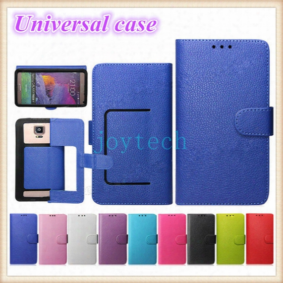 Aaa Quality Universal Wallet Pu Flip Leather Case Credit Card Cover With 9 Colors For 4.0 4.5 5.0 5.5 Inch Cell Phone Mobile Phone