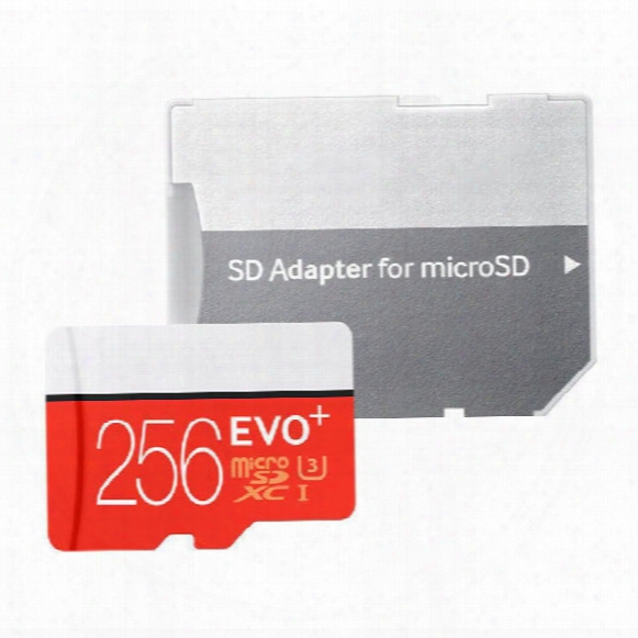Best Dropshipping Deals !! Evo+ Plus 256gb Micro Sd Card Tf Memory Card Class 10 Flash Sdhc Sd Adapter Sdxc W Blister Package