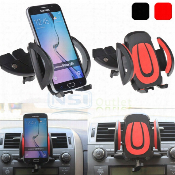 Car Cd Dash Slot Mount Holder Dock Clip For Iphone 7 Samsung Galaxy S7 Edge S6 S8 Plus Note 5