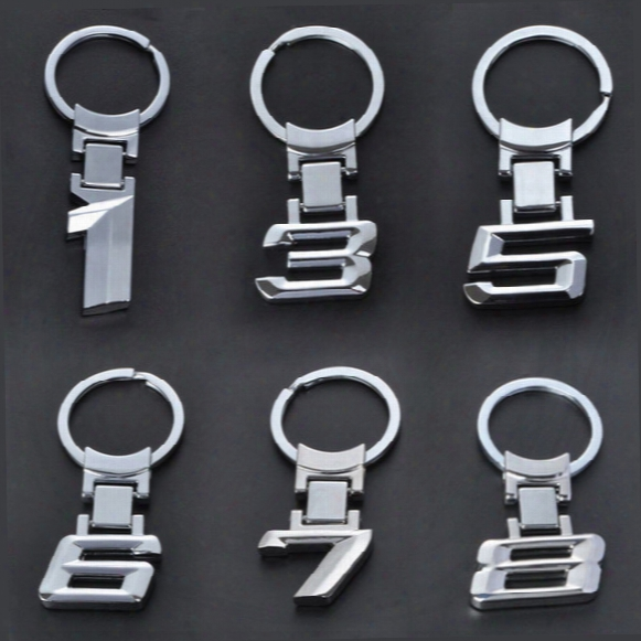 Car Styling New Wholesale Zinc Alloy Metal Car Logo Chaveiro Keychain Key Chain Key Ring Keyring For Bmw 1 3 5 6 7 X Key Holder