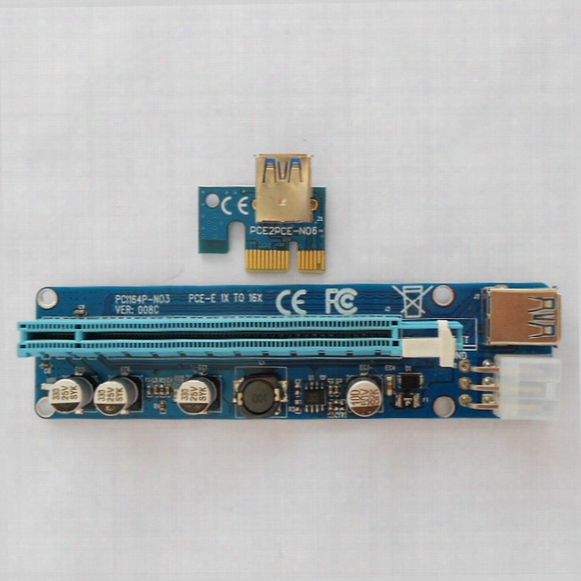 Factory Direct Sell Usb 3.0 Pci-e Express 1x 4x 8x 16x Extender Riser Adapter Card Sata 15pin Male To 6pin Power Cable