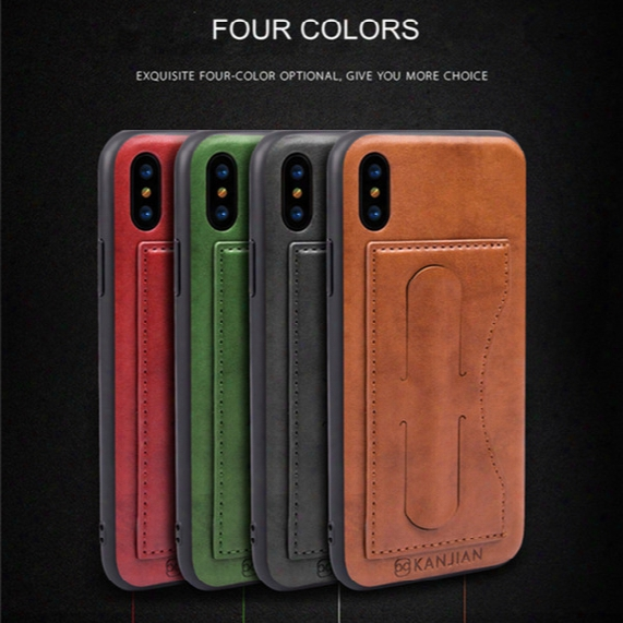 For Apple Iphone X 8 7 6 Plus Tpu+pc+pu Material Luxury Leather Card  Bracket Car Protective Cover Creative Design For Samsung S8 Plus