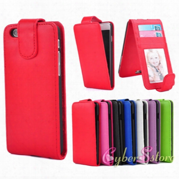 For Iphone 6 5 6plus Vertical Leather Case Photoframe Photo Frame Id Card Slot Flip Cover For  Iphone6 6s Se 6 Plus